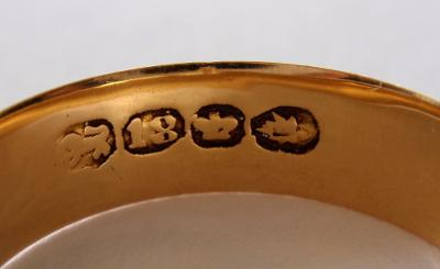 18 ct gold british hallmark?