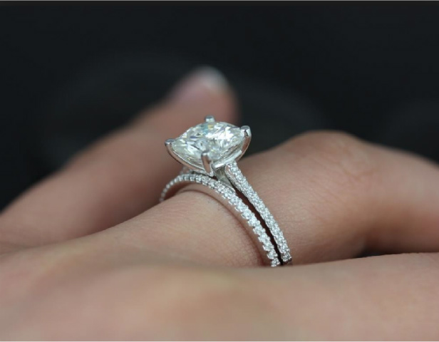 Image result for high set diamond ring