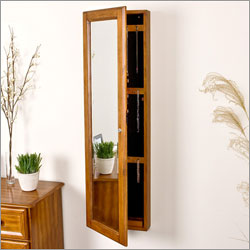 Wall Mount Mirror jewelry Box