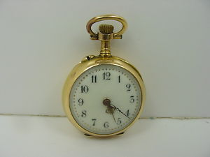 old vintage antique pocket watch is French or Swiss made in a size