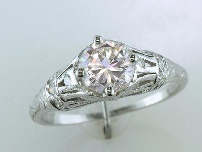 Antique Traub Orange Blossom Engagement Ring