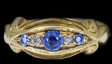 antique iolite ring