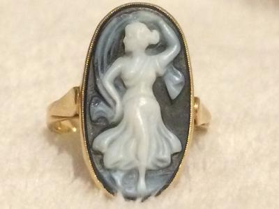 Cameo Girl Dancing Front of ring