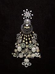 Antique Jewelry Christmas Tree
