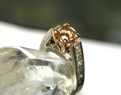 Yellow Diamond Engagement  Ring Set