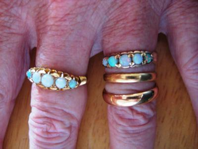 different 22ct gold wedding ring colours