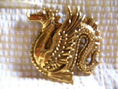 Cast Dragon Brooch
