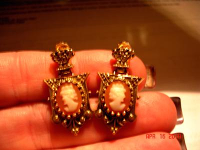 cameo earrings-also have pix of ring and charm