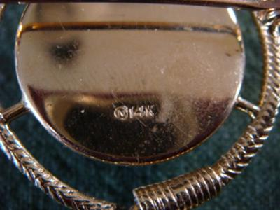 fine jewelry marked n in circle On a in a circle jewelry mark