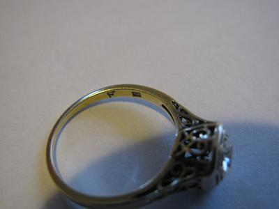 Gold Ring Stamped F F14