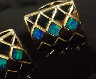 Solid Gem Opal Cufflinks