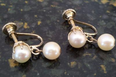 Antique pearl earrings