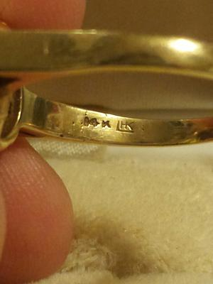 Marking on an antique 14K gold ring