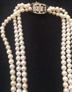 Mikimoto Vintage 3 Strand Necklace