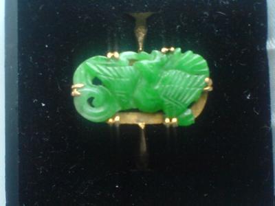 'Phoenix' Jadeite Ring