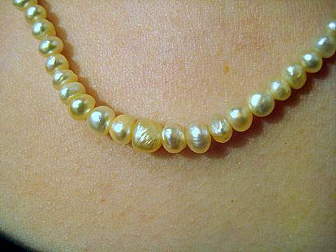 Graduated Natural Pearl Necklace