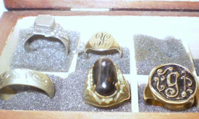 Old Unusual Mixed Metal Rings