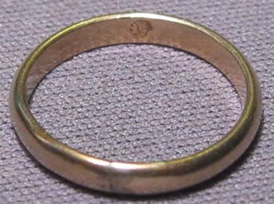 Ring with Indian Head stamp inside band