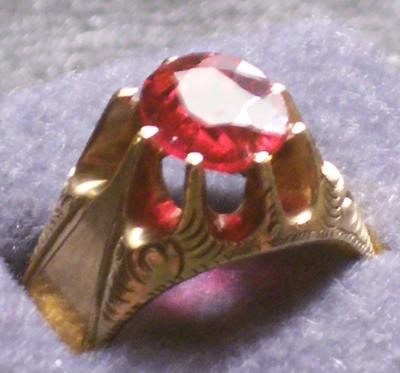 Pink Stone  Antique Ring