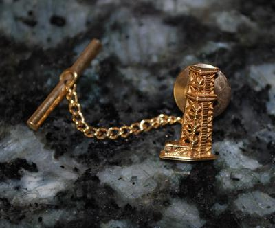 Star hallmark on 14k gold oil derrick tie tack for Star hallmark on jewelry