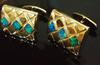 Beautiful Lightning Ridge Black Opal Cufflinks