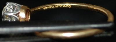 Tiffany Amp Co Antique Diamond Engagement Ring Later 1800s