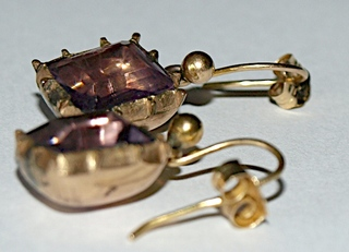 Antique Jewelry Investor_Georgian Amethyst Earrings