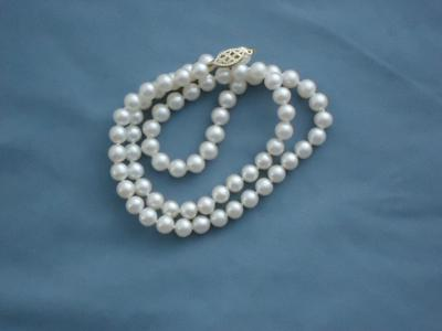 Trying To Id Cultured Pearl Necklace Mark
