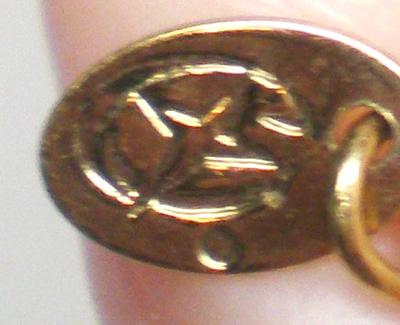 Vintage Costume Jewelry Necklace Tag Markings