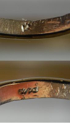 Weird Symbols Inside Gold Antique Ring