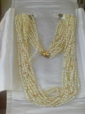 Where Can I Sell My 14k Gold Rice Pearl 10 Strand Necklace