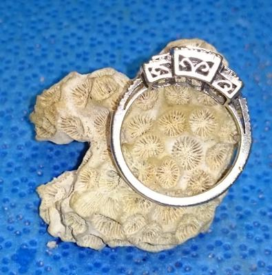 10k Art Deco Diamond Ring With Circle M Hallmark