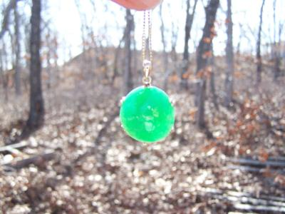 Antique Jade Pendant / daylight view