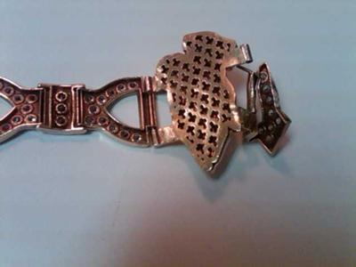 view of back and bent clasp