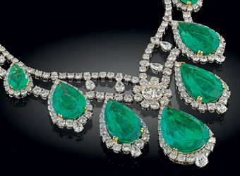 christies auction emerald and diamond necklace