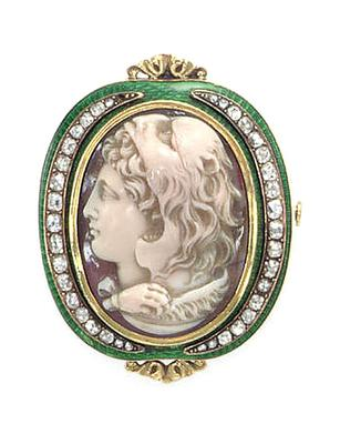 What Does Cameo Jewelry Mean Double Cameo Of Lady With