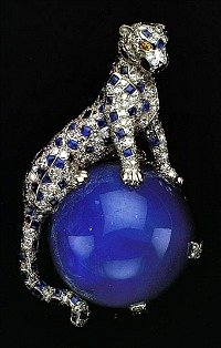 duchess of windsor diamond and sapphire panther pin 1949 cartier