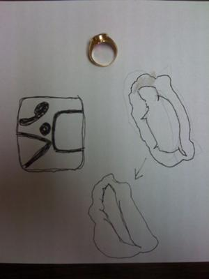 ring & 2 hallmark renderings