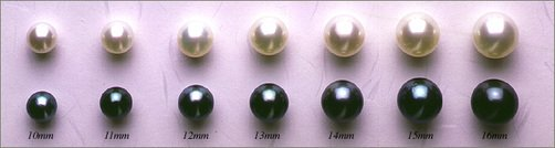 Antique Jewelry Investor - South Sea Pearl Sizes
